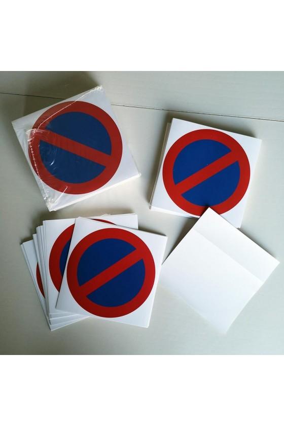 Stickers de stationnement interdit à coller sur les voitures
