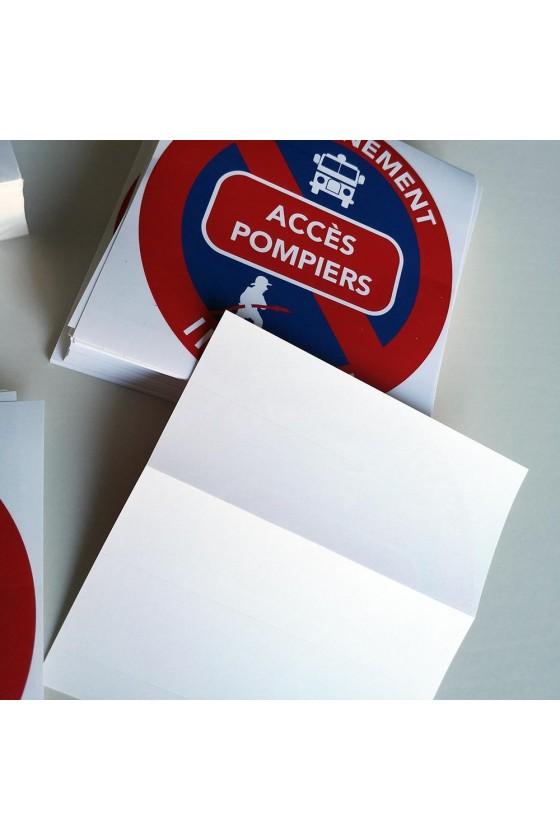"""Autocollants """"accès réservé aux pompiers"""""""