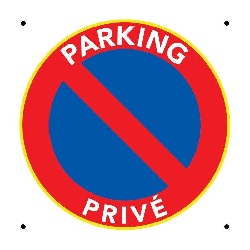 Panneau parking privé. Interdiction de stationner.