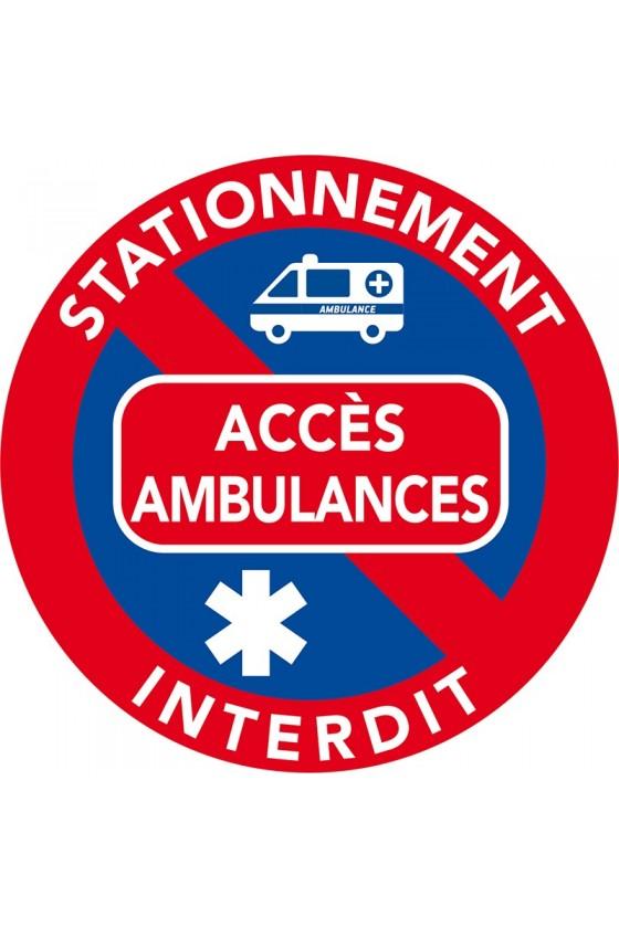 Solution pour libérer les accès aux ambulances. Interdiction de stationner