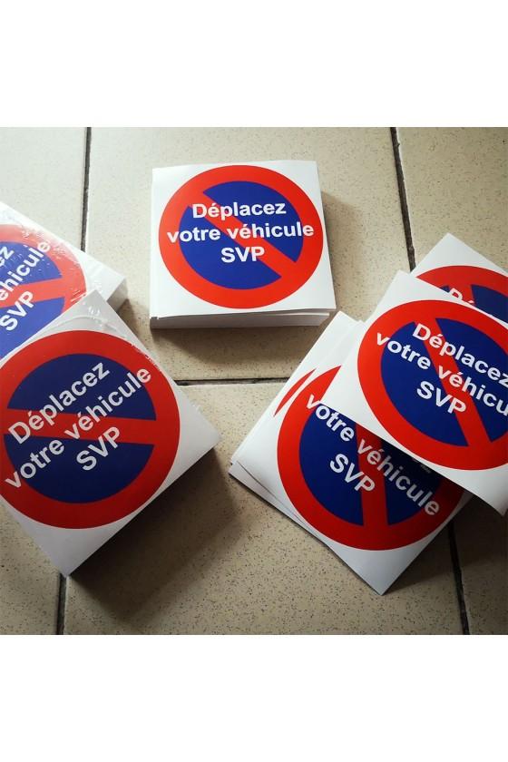 Autocollants Déplacez votre véhicule SVP