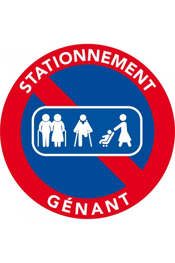 Autocollants dissuasifs passage de personnes. Interdiction de stationner.