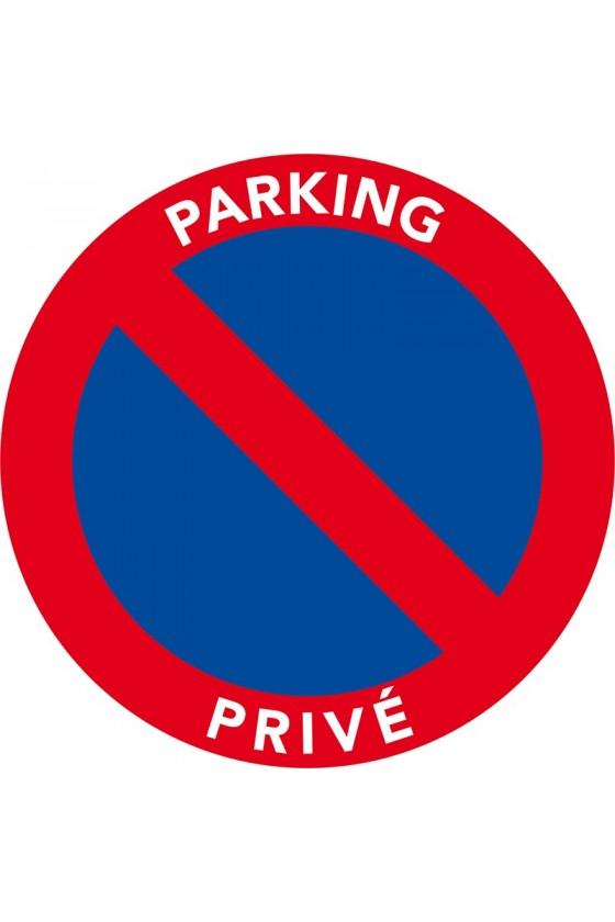 Étiquette autocollante contre le stationnement interdit