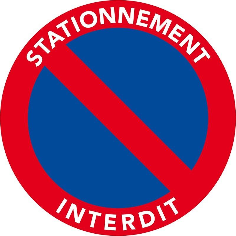 Stickers, autocollants de stationnement interdit