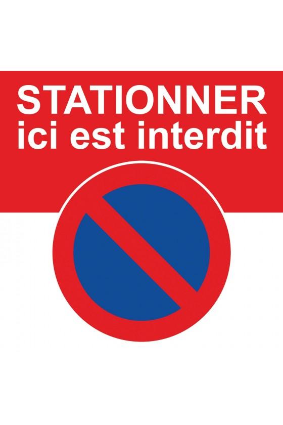 avertissement d'une interdiction de stationner