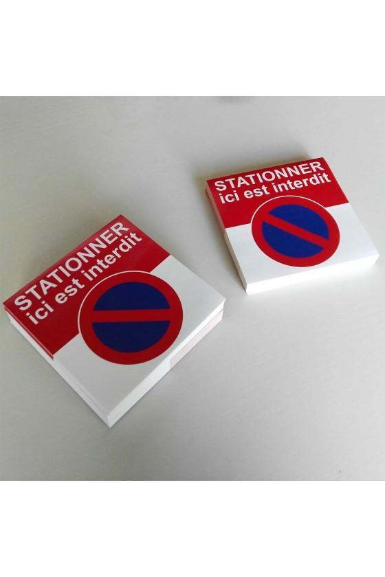 "Autocollants avertissement ""stationnement interdit"""