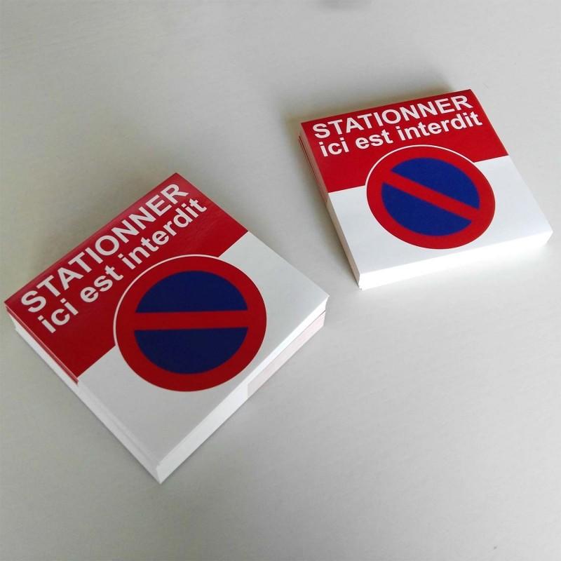 avertissement d'un stationnement interdit