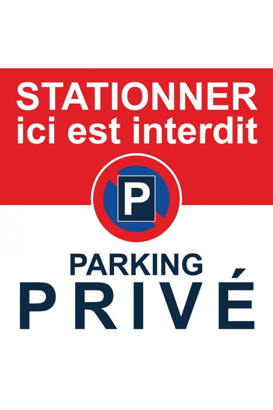 Autocollants stationnement interdit parking privé