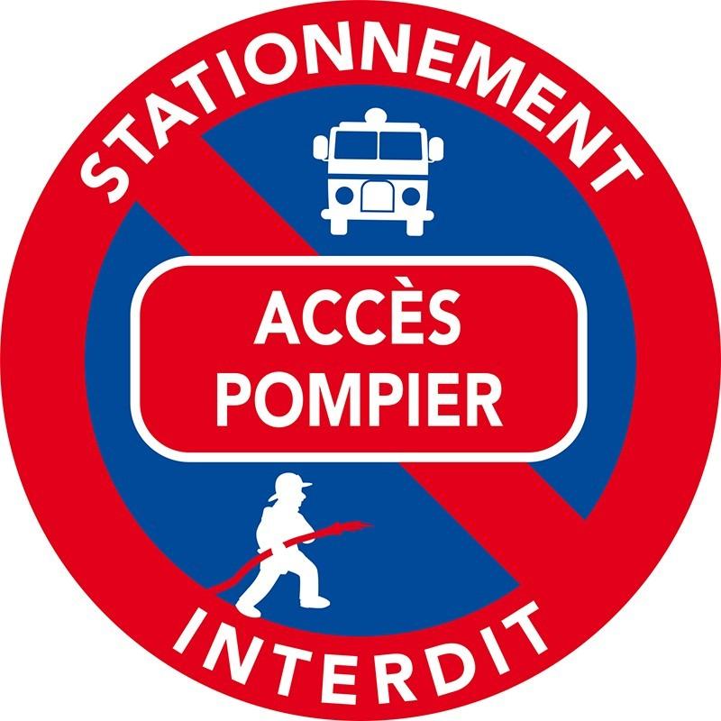 Stationnement interdit car accès aux pompiers
