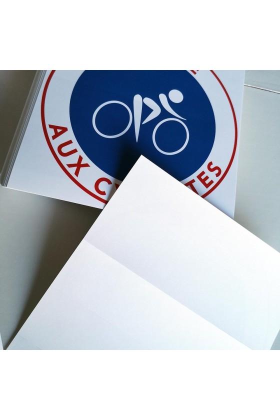 """Autocollants """"réservé aux cyclistes"""""""