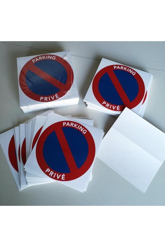 Stationnement interdit parking privé aux personnes non autorisées