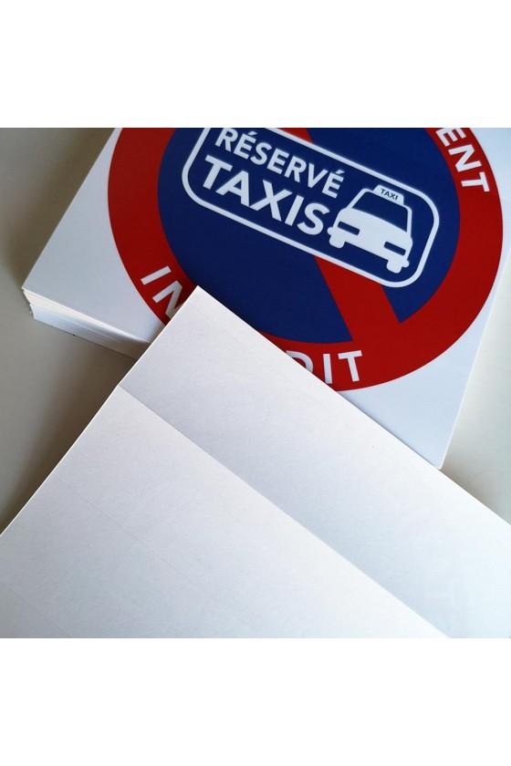 """Autocollants """"place réservée aux taxis"""""""