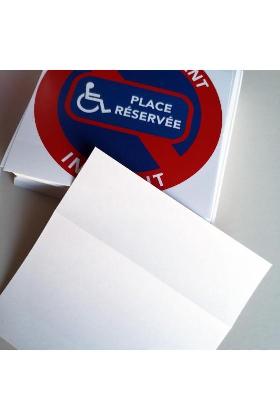 """Autocollants """"place réservée aux handicapés"""""""